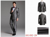 Fashion Men's Single Breasted Mens Dress Suits Slim Fit Business Suits Business Dress Blazers Drop Shipping