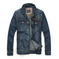 2014 New tops cotton Sport Men's Hoodie Jeans Jacket coat outerwear hooded Winter denim jacket coat cowboy wear free shipping