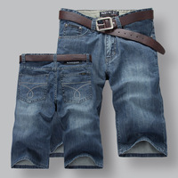 PLUS SIZE2014 new men washed blue denim five pants denim shorts Free Shipping