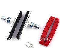 bicycle mountain brake V-brake pads with mud trough silent bicycle brake pads road bike brake pads,free shipping