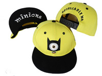 2014 New Styles,  Free shipping! Hotest Kid Little Yellow Man Snapback Hats, Cute Minions caps For Kids.
