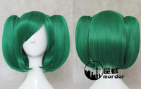 Macross Series F Ranka Lee dark green Cosplay wig+free shipping+Free Wig Cap