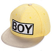 2014 New Styles,  Free shipping! BOY Snapback Hats, Cute BOY caps, South Korea Hot Style, Pink, Black, Yellow