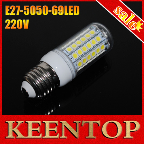 E27 CREE Chip 69 LEDs 220V High Lights Corn Bulb LED Light LED Bulb Light 5050 SMD E27 Lamps Lighting Ture 6w, 8W 9W 10W 12W 15W()