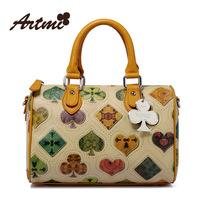 Artmi handbag vintage print the trend women's messenger bag designer totes brand handbag for women free shipping