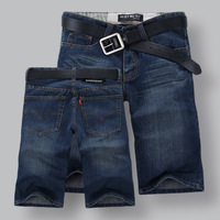 PLUS SIZE new European and American fashion straight dark blue casual shorts, free shipping