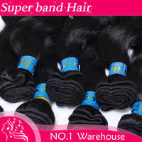 "Super band Hair Brazilian Body Wave Hair Remy Virgin Brazilian Hair 1 bundle 14-26"" Freight free"
