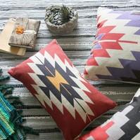 Turkish kilim thick cotton pillow cushion Cotton Cushion pillow cover pillowcases for Car Office Cushion Home decorate 3PCS/LOT
