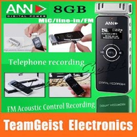 "8GB Professional DIGITAL Voice Recorder 1.2"" LCD Screen HD PCM Noise-canceling TF card / FM Acoustic Control recording Telephone"