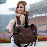 Bags vintage 2013 all-match casual canvas bag one shoulder cross-body women's handbag big bag