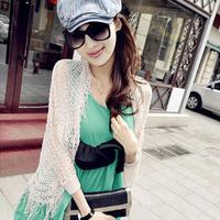 2013 tassel cutout beach dress shirt outer outerwear sweater 006 sun protection clothing