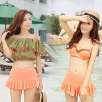 Steel push up bikini dress spa beach swimwear