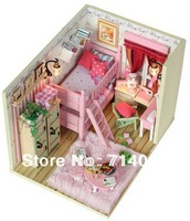 New arrival  mini doll house ,Handmade diy assembling model, Christmas gift