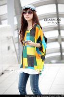 325 2014European style Famous brand Carved hollow chiffon shirt Spring Summer fall women lady T-shirt free Drop shipping 321