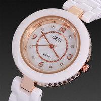 2014 top fasion new relojes ceramic watch women brand luxury rhinestone crystal bracelets fashion casual drop shipping wholesale