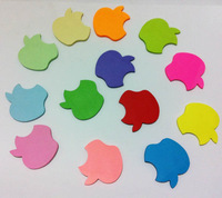 40 sheets Apple shape Memo Note Pad Free Stickers Bookmark message post Gift, 120pcs/lot,Free shipping