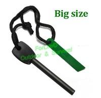 Reliable!!!  Magnesium Flint fire steel fire starter flint rod survival essentials big size 2pcs