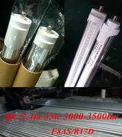 factory outlet 100pcs  2400mm /2.4m  t8 tube  35w 36W led fluorescent  tube FA8S  led single pin tube lamp 8ft led light bulb