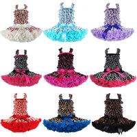 New 2014 Boutique Satin Baby Pettiskirt Set,Satin Top + Dress,Girls Pettiskirts Tutu Set Wholesale10 Options FREE SHIPPING X-46