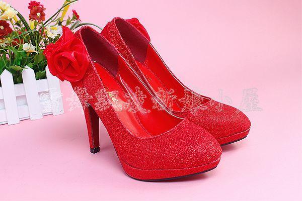 Bride Wedding Shoes High Heels Single Shoes Flower Women's Wedding Shoes Wedding Dress Formal Dress Shoes Wedding(China (Mainland))