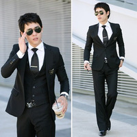 Autumn blazer suit male version of set male business casual formal slim wedding dress piece set