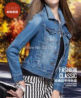 Women Jacket Casaco Jaqueta Feminina Single Breasted Turn-down Collar 2014 Spring Top Plus Size Women Outerwear Mm New Arrive