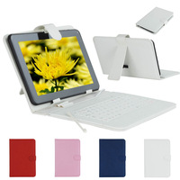 Micro USB Keyboard Faux Leather Case For 9 inch Tablet PC CA0050A2