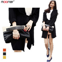 2013 Fashion Lady's Color blocked Clutch Totes Bag Pu leather Collapsing Hand Grasp Bag Retail B427-1 Free Shipping#S5