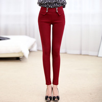 Spring women's all-match cotton legging plus size trousers slim elastic legging