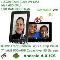 "Best seller Black Onda V701 dual core Android 4.0.3 ICS Capacitive Tablet PC-7"" 5Point Touch ARM Cortex-A9 Dual Core WiFi HDMI"