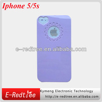 Free shipping- Promotion purple elegant cell phone hard shell cover for iphone 5s