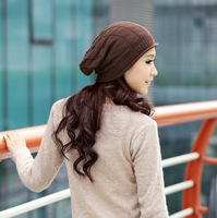 free shipping  and drop shipping girl knit slouchy beanie hat