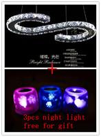Free ship DHL/EMS New Design Rectangle LED crystal chandelier home lighting  luxury modern lamp+3pcs light for gift
