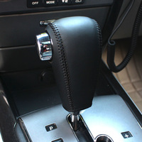 Gear Shift Knob Cover for Kia Sorento 2004-2008 Automatic XuJi Car Special Hand-stitched Black Genuine Leather Covers