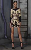 Sexy Long Sleeve Jacquard Bandage Dress 2014 New Arrival Celebrity Dresses Bodycon Elegant Party Prom Evening Dress