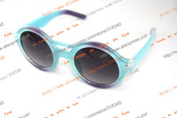 Retro male influx of women small box rivets Prince mirror large round sunglasses round frame sunglasses
