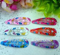Free shipping!Very popular children's hair clips, 5 cm clip, printing cartoon dogs, cute animals, 6 color random mix, 50 PCS/lot