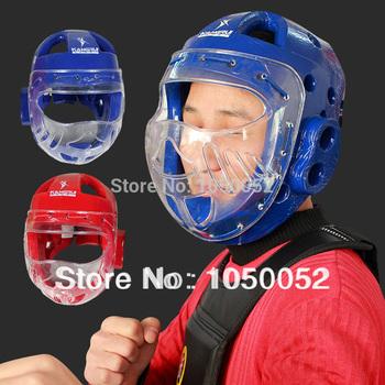 Тхэквондо шлем kangrui прозрачный маска таэквондо защиты головы flanchard каратэ муай тай тренажерный зал traing бесплатная