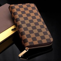 2014 female wallet long design wallet women's handbag fashion zipper mobile phone watts  genuine leather clutch free shiping