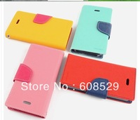 MOQ:1PCS Korean Original MERCURY Goospery Leather Flip Case Cover For Samsung Galaxy S3 mini i8190,Free Shipping