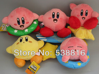 Hot Sale 5inch Super Mario Bros Kirby Plush Toy Stuffed Doll Toys 15 sets (1 set = 5 pcs) new arrival