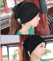 free shipping  girl knit hats beanie and scarves black drop shipping