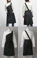 Japanese style fashion cake coffee nail art derlook one shoulder work wear apron
