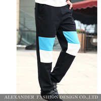 Freeshipping,Promotion,New 2014 Men's Quality Color Stitching Design Sport Pants Casual&Fashion Pants,Men's Trousers Harem Pants