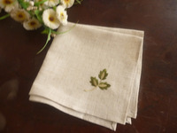 Linen embroidered table napkin placemat handkerchief 40 40cm