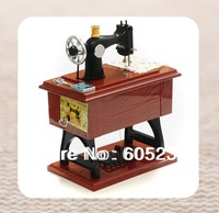 4 pcs Vintage Mini Sewing Machine Music Box Sartorius Model Musical Toy