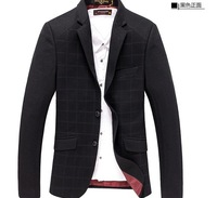 Free shipping new 2014 sale casual men's winter suits british style wool blends men blazers outerwear