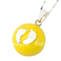 JY013- Wholesale 1pc 925 sterling silver Pendant Harmony Ball bell ringing Chime Sound of Angel Pregnant women 20mm ball chioce