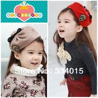 10 pcs/lot(8 colors) new baby headband Bonnet Style Girl's Hat Kids Wool Felt Hat Beret fascinators Hats Caps Hairdbands FG-89