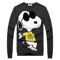 Autumn and winter snoopy joe ice male sweater man sweater basic shirt sweater